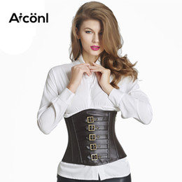 62418cc5b0a41 Steampunk corset gothic sexy Women Bustiers leather slimming Waist Corset  Straitjacket Sexy Women Body Gothic Style