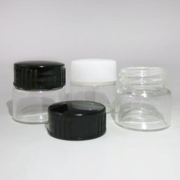 Wholesale Plastic Travel Jars - 500 x 5g Small Travel glass cream jar with plastic lids 5cc mini glass cosmetic packaging Containers Mini glass jar Make Up Pot