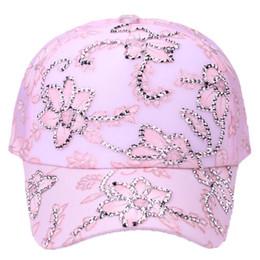 Lace regolabile Caschetto Ladybro New Women Cappello Cap femminile Berretto  da baseball Summer Hip Hop Hat Carino Bone Fashion fiore di strass cappello  di ... 8e67afbc6296