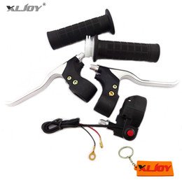 Wholesale Switch For Bike - Pocket Mini Bike Hand Grips Kill Stop Switch Twist Throttle Brake Levers Set For 2 Stroke ATV Quad Go Kart Dirt Bike Motorcycle