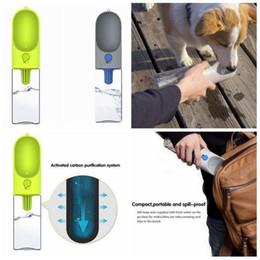 Wholesale Small Plastic Dispenser Bottles - 400ML Dog Water Bottle Feeder Bowl Pet Dispenser Drink Feeder Outdoor Travel Cup Portable Water Dispenser Bottle OOA4955