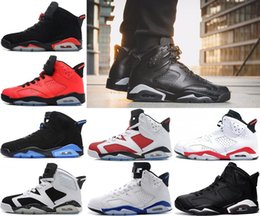 Wholesale Popular Culture - 2018 Best retro 6 Basketball shoes White Infared Black sport blue Oreo Olympic Maroon POPULAR blue sports shoes with size 8-13