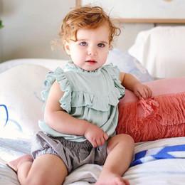 2018 été bébé barboteuses costume infantile Triangle barboteuse coton mélangé sans manches garçon fille couleur unie barboteuses bodys ? partir de fabricateur