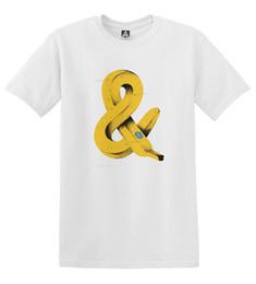 impressões de arte livre Desconto Banana E Ampersand T-shirt Da Arte Warhol Inspirado Indie Tee Fruit Print TopFunny frete grátis Unisex tee