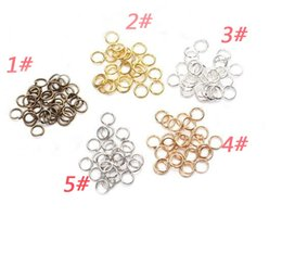 Wholesale Factory Direct Loop - DIY jewelry accessories Hoops lap Manual connection ring Closed loop Gold silver white color bronze kc K gold 5 * 7 mm factory direct sale