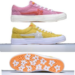 c1cf1ee93d3 2018 Hot Sale TTC Creator x Tyler One Stars Ox Golf Le Fleur Suede Fashion  Casual Canvas Shoes Pink Green Yellow Sneakers Outdoor EUR 35-44