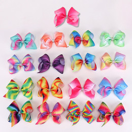 Wholesale diamond hairpin hair clip - 12cm Big bowknot hairpins with diamond girl barrette large colorful bow hair clip jojo Hair Accessories
