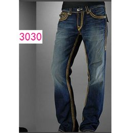 rock lights Coupons - Free Shipping New True Elastic jeans Mens Robin Rock Revival Jeans Crystal Studs Denim Pants Designer Trousers Men's size 30-40