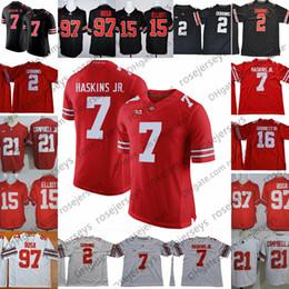 Wholesale 15 Yellow - NCAA Ohio State Buckeyes #2 JK Dobbins #7 Dwayne Haskins Jr. #97 Nick Bosa Joey #15 Elliott White Red Black College Football Jerseys