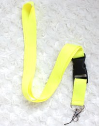 Wholesale Working Girls - 10pcs Hot Neck Strap Under Lanyard With Silver Metal Clip Armor Key Phone Pink Straps keychains Women Girl Work ID Card Lanyard More Styles