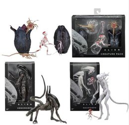 Wholesale Alien Series - Movie AVP Aliens vs Predator Figure Series Alien Covenant Xenomorph Neomorph Creature Pack PVC Action Figures Model Toy Gift