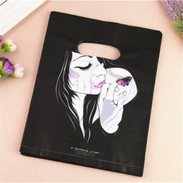 Wholesale Wholesale Plastic Bags For Food - 2017 New Design Wholesale 100pcs lot 20*25cm Luxury Fashion Girl Plastic Gift Packaging Bags For Hair Extensions
