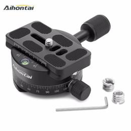 2019 trípodes panorámicos Cámara panorámica con cabezal panorámico Monopod para cámara con placa de liberación rápida Cabeza panorámica 360 para Canon Nikon Sony DSLR rebajas trípodes panorámicos