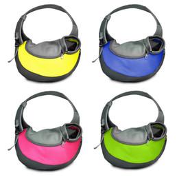 Wholesale Pet Sling Bag - New pet Puppy Carrier Dog Cat Comfort Travel Tote Shoulder Bag Sling Backpack 5 colors BBA69