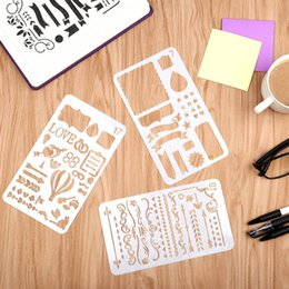 Wholesale Journals Free Shipping - 20pcs Set Bullet Journal Stencil Plastic Planner Stencils Notebook Diary Scrapbook DIY Drawing Template 4x7 Inch DHL free shipping
