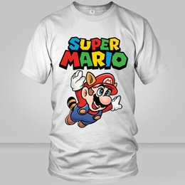 Wholesale Most Popular T Shirts - Most popular game t shirt Super Mario short sleeve gown Cartoon tees Unisex clothing Quality modal Tshirt
