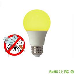 Wholesale led a19 light bulbs - Waterproof IP65 Yellow LED Bug Light Bulbs 40W 60W Equivalent 5W 7W A19 Color Light Bulbs with E26 Medium Base Home Lighting