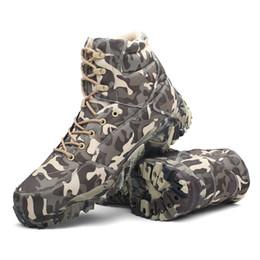 HAN WILD Combate táctico Deporte al aire libre Ejército Hombres Botas Desierto Botas Senderismo Zapatos de otoño Botas altas de cuero de viaje Hombre desde fabricantes
