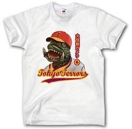 Годзилла рубашка S-XXXL Токио террор фильм кино плакат фильм Япония монстр короткими рукавами хлопок мода футболка Бесплатная доставка от Поставщики японские фильмы