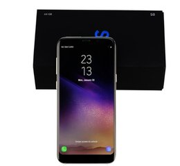 Wholesale Cdma Android Phones Inch - Goophone S8 Plus 6.2 Inch S8+ Phone REAL FINGERPRINT Quad Core Ram 1GB ROM 16GB Android 7.0 Camera 8.0MP Show 4G Lte 64GB Cell phone DHL