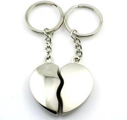 Argentina 400 unids = 200 par / lote Corazón de metal lindo Pareja llaveros Amor Llaveros Llaveros de boda recuerdos para invitados Suministro