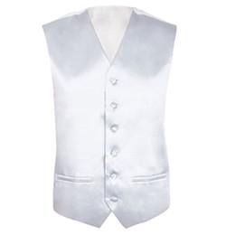 Wholesale Ivory Wedding Waistcoats - Mens Wedding Waistcoat Groom (Ivory white XL UK 42)