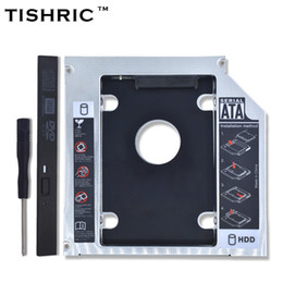 Wholesale 2nd Caddy - TISHRIC Aluminum Optibay 2nd HDD Caddy 12.7mm SATA 3.0 Hard Disk Drive Box Enclosure DVD Adapter 2.5 SSD 2TB For Laptop