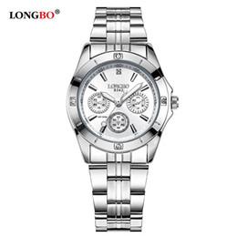 172c9afbfb3 LONGBO Militar Esportes Único Projeto Casal de Aço Inoxidável Banda Relógios  de Quartzo Homens Relógio de Lazer Masculino Relogio masculino 8342 S924W à  ...