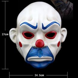 Wholesale Dark Knight Batman Costume - Adult High-Grade Resin Joker Bank Robber Mask Clown Batman Dark Knight Halloween Prop Masquerade Party Costume Fancy Dress