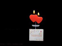 decorazione candela rossa Sconti Ciondolo piccolo cuore rosso doppio cuore rosso
