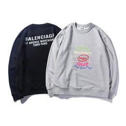 a15df3c95a Diseñador con capucha marca de moda sudadera letras para hombre para mujer  Tops Tops manga larga Streetwear suelta tallas grandes ropa M-XXL