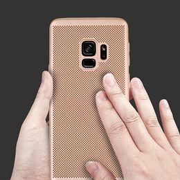 Примечание край тонкий чехол онлайн-Полное покрытие матовый тонкий жесткий PC Mesh Case для Samsung Galaxy S9 S9 PLUS Примечание 9 Примечание 8 Galaxy s8 S8 plus S7 S7 edge S6 edge 300 шт. / лот