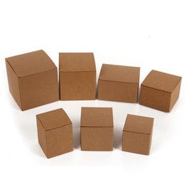 wedding party favour boxes UK - 50pcs Beautiful Blank Kraft Paper Gift Boxes for Cosmetics Cream Packaging Party Wedding Favour, valve tubes