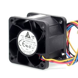 Wholesale 12v Dc Pwm Controller - fan speed controller 2pcs New FFB0412VHN 4028 4cm 12V 0.24A PWM DC cooling fan speed control 40*40*28mm