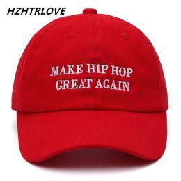 dca4ab75e4e41 Letra de la marca de alta calidad HACER HIP HOP GREAT AGAIN Gorra de  béisbol Snapback Gorra de béisbol para hombres Mujeres Hip Hop Sombrero de  papá Bone ...