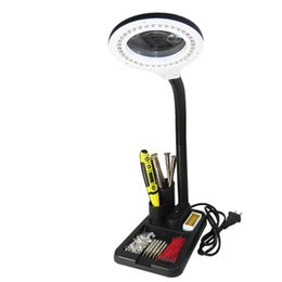 Lupas electronicas online-Luces de conservación de energía Reparación de lupa de escritorio Lámpara LED de soldadura Soldadura Reparación de aparatos electrónicos Luz giratoria flexible Save Place 28kt jj