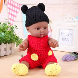 Wholesale dolls clothes bjd - 30cm Cute Simulation Lifelike Baby Doll Toy Lovely Clothes Changing Baby Girl Toys Play House African Doll for Children Gift