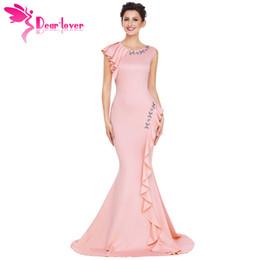 Lieber Liebhaber Nachtkleid Frauen Robe de Soiree Longue Asymmetrische Falten Detail Elegant lange Party Kleid Vestido De Festa Longo 61807 von Fabrikanten