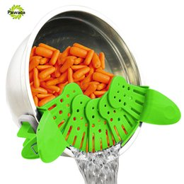 Wholesale Pan Strainer - Creative Foldable Multifunction Funnel Pan Strainer Pot Bowl Baking Wash Rice Colander Kitchen Accessories Gadgets Cooking Tools