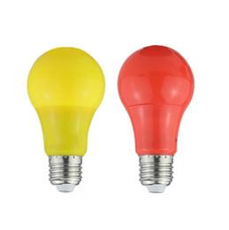 2019 ampoules basse tension La couleur de basse tension a mené l'ampoule en aluminium de sac en plastique la lumière rouge-jaune d'ampoule menée promotion ampoules basse tension