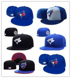 Boné toronto on-line-Hot mais novo toronto cor azul royal em estilo de campo de beisebol equipado chapéus logotipo da equipe de esporte bordado completo fechado caps fora porta moda ossos
