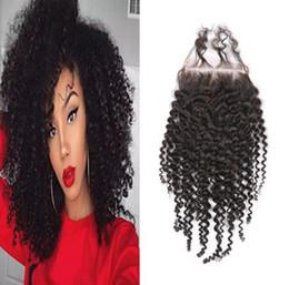перуанский волос афро локон Скидка 8A бразильские девственные человеческие волосы 4x4 афро локон кружева закрытия перуанский малайзийский Индийский монгольский кудрявый вьющиеся волосы закрытия