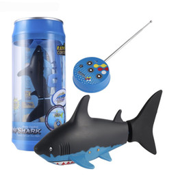 Wholesale Fish Boat Rc - Kids Mini RC Submarine 4 CH Remote Small Sharks With USB Remote Control Toy Fish Boat Best Christmas Gift for Boy Children