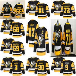0be7da9d3 kessel black jersey Coupons - Pittsburgh Penguins Jersey Third 87 Sidney  Crosby 71 Evgeni Malkin Phil