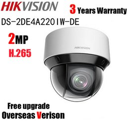 Wholesale Ip Optical - Hikvision DS-2DE4A220IW-DE 2MP POE PTZ Network Camera IR 50m Mini 20X Optical Zoom P2P WDR PTZ IP Camera