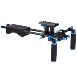 Piattaforma di supporto per il supporto a spalla online-Freeshipping DSLR Rig Camera Staffa di montaggio Testa palmare Video spalla Sistema di supporto 15mm Asta morsetto Stand