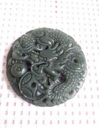 Wholesale china green jade dragon - China's xinjiang hotan jade dragon pendant free shipping certificate A1