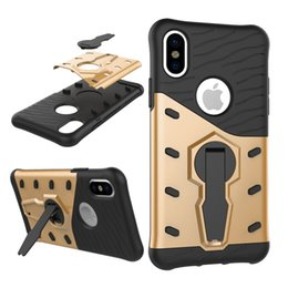 Wholesale iphone5 hybrid - For Iphone X Case 3in1 High hybrid Impact Armor Shockproof Belt Clip Holster Kickstand Case Cover For Iphone5 6 7 8splus google pixel xl