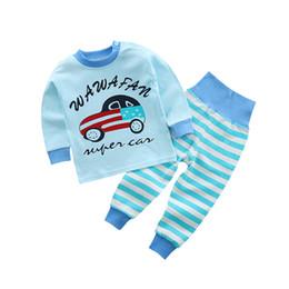 Wholesale Childrens Jumpsuits - Childrens Girls Cotton Pajamas Sets Kids Boys Baby Newborn Jumpsuit Romper Xmas 2 pcs Home Sleepwear BN-014
