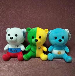 giocattoli all'ingrosso delle bambine Sconti 2018 Coppa del mondo 21 cm peluche bambole farcito licenza peluche orso giocattolo calcio fan calcio souvenir regalo bambino regali per bambini